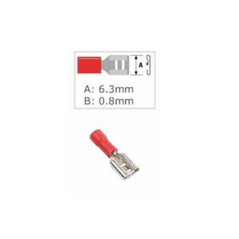 Кабелна обувка Fast On ST-065 / FDD 1.25-250(8), 100 бр., червена image