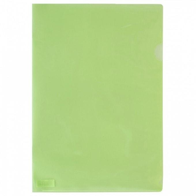 Джоб Office Point, L-oбразен, за документи с формат до А4, зелен, продава се в опаковка от 100бр. image