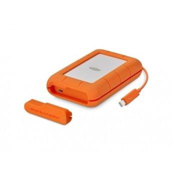 """Твърд диск 5TB Lacie Rugged (оранжев), външен, 2.5"""" (6.35 cm), Thunderbolt image"""