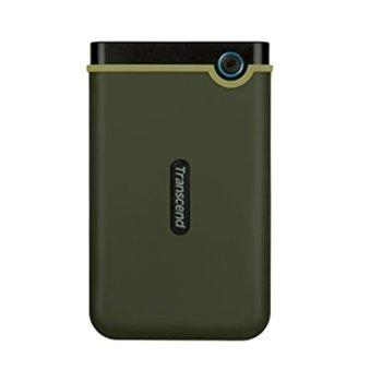 """Твърд диск 1TB Transcend Slim StoreJet M3G, тъмнозелен, 2.5"""" (6.35cm), външен, USB 3.1 image"""