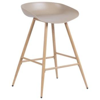 Бар стол Carmen 3086, полипропиленова база, 100 кг. максимално натоварване, бежов image