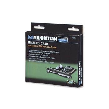 Контролер Manhattan Serial PCI Card 158206, от PCI(м) към 1x RS-232c(DB-9)(м) image