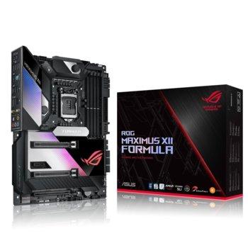 Дънна платка Asus ROG MAXIMUS XII FORMULA WI-FI, Z490, LGA1200, DDR4, PCI-E 3.0 (SLI&CFX), 6x SATA 6Gb/s, 2x M.2 Socket, 1x USB 3.2 Gen2 Type-C, Wi-Fi. Bluetooth, ATX image