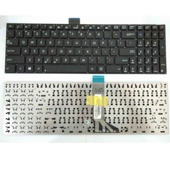 Клавиатура за лаптоп Asus X502, black, no fame, US, (Малък Enter) image