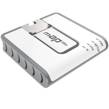 Рутер MikroTik RBmAPL-2nD, 100Mbps, 2.4GHz, Wireless N, 1x WAN 100, PoE, 64MB RAM, 16MB Flash памет image