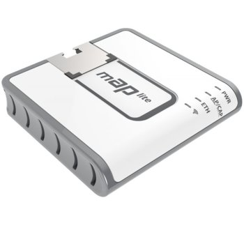 Рутер MikroTik RBmAPL-2nD, преносим, 100Mbps, 2.4GHz, Wireless N, 1x WAN 100, PoE, 64MB RAM, 16MB Flash памет image