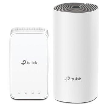 Безжична Wi-fi система TP-Link Deco E3 AC1200 (2-pack), 1167Mpbs, 2.4GHz 300Mbps/5GHz 867 Mbps, Wireless AC, 2x 2 10/100Mbps, 2 вътрешни антени image