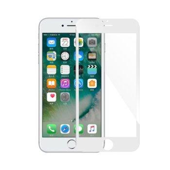 Протектор от закалено стъкло /Tempered Glass/ за iPhone 7/8, бял, дебелина 0.3mm image