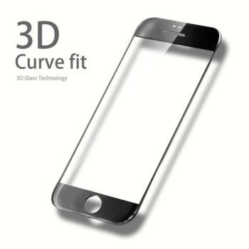 Протектор от закалено стъкло /Tempered Glass/ за Samsung A5 2017, черна рамка image