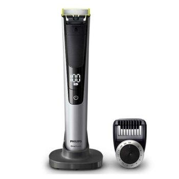 Хибриден уред за брада Philips OneBlade Pro QP6520/20, 14 настройки, до 90 минути работа на батерия, сива image