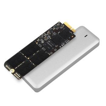 """Памет SSD 240GB Transcend JetDrive 720, SATA 6Gb/s, 2.5""""(6.35 cm), скорост на четене 570 MB/s, скорост на запис 460 MB/s, с външна кутия USB 3.0, предназначен за Mac image"""