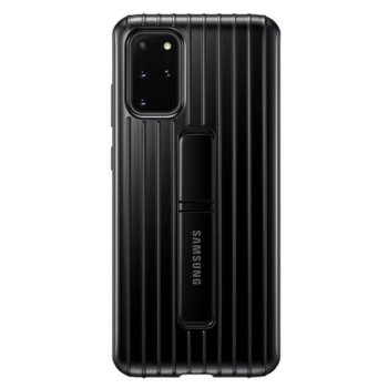 Калъф за Samsung Galaxy S20 Plus, хибриден, Samsung Protective Standing Cover EF-RG985CB, удароустойчив, с поставка, черен image