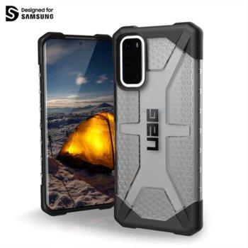 Калъф за Samsung Galaxy S20 Plus, хибриден, Urban Armor Plasma 211973113131, удароустойчив, черен-прозрачен image
