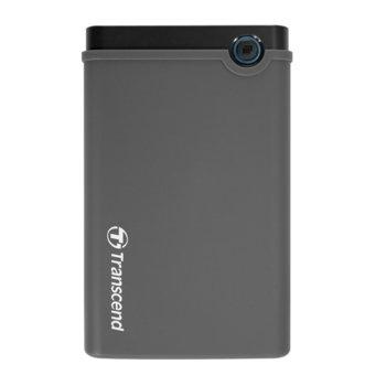"""Кутия 2.5"""" (6.35 cm), Transcend StoreJet (TS0GSJ25CK3), за 2.5"""" SATA HDD, USB 3.0, черен image"""