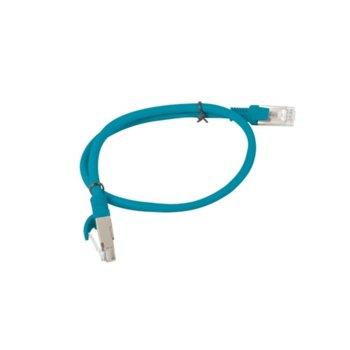 Пач кабел Lanberg PCF5-10CC-0050-B, FTP, cat.5e, 0.5м, син image