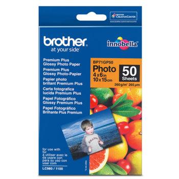 Фотохартия Brother BP-71, 10x15 cm., гланцирана, 260 g/m2, 50 листа image