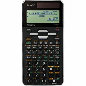 Калкулатор SHARP EL-W506T, научен , съдържа 640 математически функции, защитна кутия, черен image