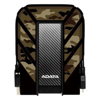 Твърд диск 2TB A-DATA 710M, (камуфлаж), външен, USB3.1 image