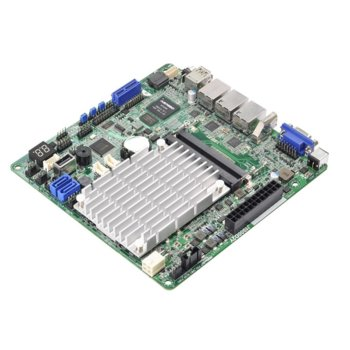 Дънна платка за сървър ASRock Rack Дънна J1900D2Y, DDR3/DDR3L non-ECC, un-buffered, 3x LAN 1000, 2x SATA 3Gb/s, 1x USB 3.0, mini-ITX image