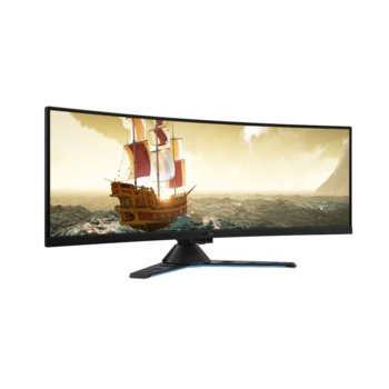 "Монитор Lenovo Legion Y44w-10 (65EARAC1EU), 43.4"" (110.23 cm) VA панел, 144 Hz, Ultra HD, 4 ms, 380 cd/m2, DisplayPort, HDMI, USB 3.1 Type-C Gen 2 image"