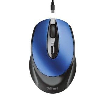 Мишка Trust Zaya, оптична (1600dpi), безжична, USB, синя image