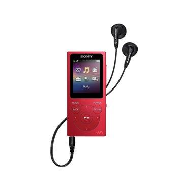 MP4 плейър Sony NW-E393, 4GB, USB, червен image