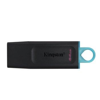 Памет 64GB USB Flash Drive, Kingston DataTraveler Exodia, USB 3.2 Gen 1, черна image