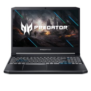 "Лаптоп Acer Predator Helios 300 PH315-53-76DG (NH.Q7ZEX.002), шестядрен Comet Lake Intel Core i7-10750H 2.6/5.0 GHz, 15.6"" (39.62 cm) Full HD 144Hz IPS Display & RTX 2070 8GB, (mDP), 16GB DDR4, 1TB SSD, Windows 10 Home image"