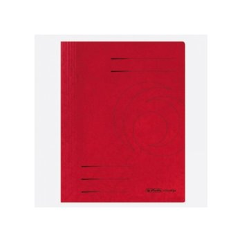 Папка от картон Herlitz Easyorga, с машинка, червена image