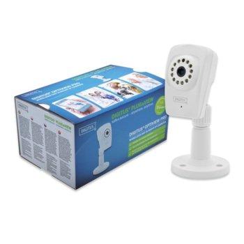 IP камера ASSMANN DIGITUS Plug&View OptiView Pro DN-16046, IP камера, 1Mpix, 2.8мм обектив, WLAN, Day-Night, IR прожектор, H.264 image