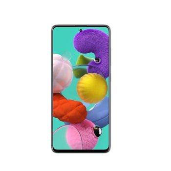 "Смартфон Samsung GALAXY A51 SM-A515 (SM-A515FZKVEUE)(черен), поддържа 2 sim карти, 6.5"" (16.51 cm) Super AMOLED дисплей, осемядрен Exynos 9611 2.3 GHz, 4GB RAM, 128GB Flash памет (+microSD слот), 48.0+12.0+5.0+5.0 & 32.0 MPix камера, Android 10 image"