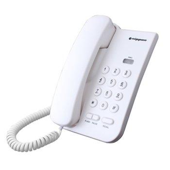 Стационарен телефон NipponNP 2035, Redial функция, бутон за заглушаване на разговора., бял image