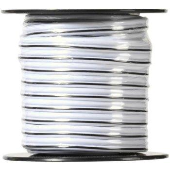 Разклонител Vivanco 46212, 2 гнезда, 10м кабел за аудио колони, бял image