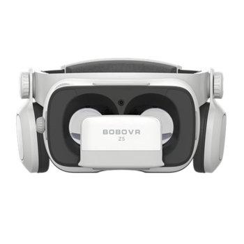 """Очила за виртуална реалност BoboVR Z5, 120° зрителен ъгъл, вградени слушалки, 720° 3D обкръжаващ звук, съвместими със смартфони с диагонал от 4.7"""" до 6.2"""", бели image"""