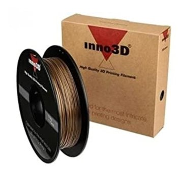 Консуматив за 3D принтер Inno3D, PLA Gold, 1.75mm, златист, 500g, пакет от 5 броя image
