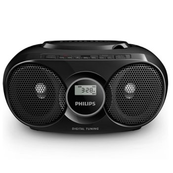 CD радиокасетофон Philips AZ318B, 2.0, 3W, USB, 3.5mm жак, FM, черен image