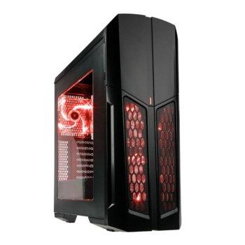 Кутия Kolink Vault RED, ATX/Micro ATX/Extended ATX, прозорец, четец за карти памет, 1x USB 3.0, 2x USB 2.0, без захранване image