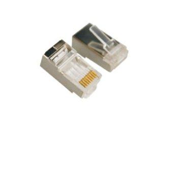 Конектори VCom, NM025, RJ45, STP, Cat5e, екраниран, 20бр. image