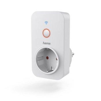 Смарт контакт Hama, Wi-Fi, макс. натоварване 3680W/16А, бял image