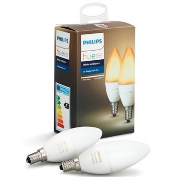 Смарт крушка Philips HUE 6W B39 E14 2бр, Топла до студена бяла светлина image