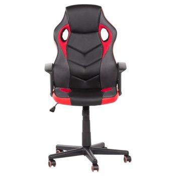 Геймърски стол Carmen 7519, до 130 кг, еко кожа, черен/червен image