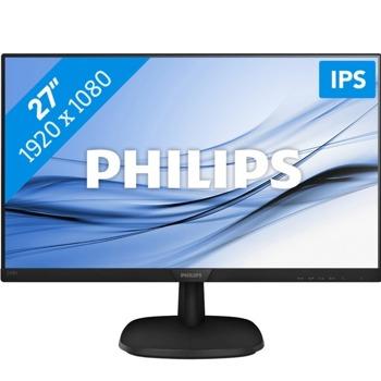 """Монитор PHILIPS 273V7QDAB, 27""""(68.58 см) IPS панел, FullHD, 5ms, 200000000:1, 250 cd/m2, HDMI, DVI, VGA image"""