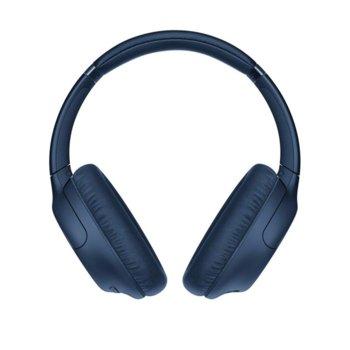 Слушалки Sony WH-CH710N, безжични, микрофон, до 35 часа време за работа, Bluetooth, сини image