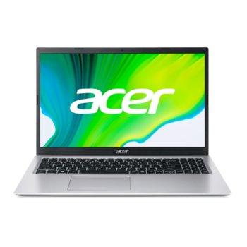 "Лаптоп Acer Aspire 3 A315-35 (NX.A6LEX.00D-8GB)(сребрист), четириядрен Jasper Lake Intel Pentium N6000 1.1/3.3 GHz, 15.6"" (39.62 cm) Full HD Anti-Glare Display, (HDMI), 8GB DDR4, 1TB HDD, 2x USB 3.0, No OS image"