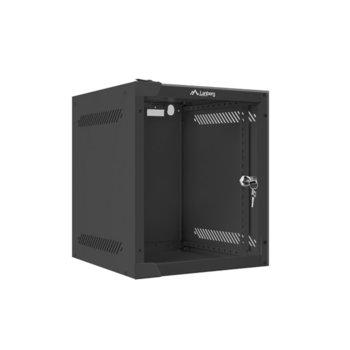 "Комуникационен шкаф Lanberg WF10-2306-10B, 10"", 6U, 280 x 310 x 336 mm, сив image"