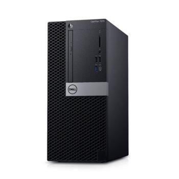 Настолен компютър Dell OptiPlex 7070 MT (N007O7070MT_UBU), осемядрен Coffee Lake Intel Core i7-9700 3.0/4.7 GHz, 8GB DDR4, 1TB HDD, 5x USB 3.1 Gen 1, клавиатура и мишка, Linux image