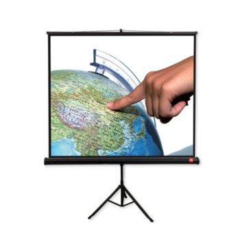 """Екран Avtek Tripod Standard 150, преносим сгъваем трипод, Matt White, 150х150см, 84"""", 1:1, универсален image"""