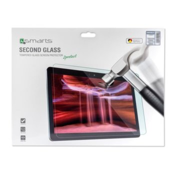 """Протектор от закалено стъкло /Tempered Glass/ 4smarts Second Glass за Huawei Mediapad M5 10""""/M5 Pro 10"""", 0.3mm image"""