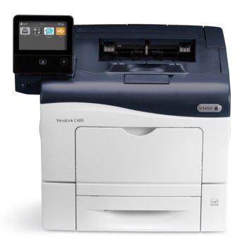 Лазерен принтер Xerox VersaLink C400, цветен, 600 x 600 dpi, 35 стр/мин, LAN1000, NFC, USB 3.0, A4 image