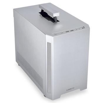 Кутия Lian Li TU150X (GELI-826), Mini-ITX, 2x USB 3.0, 1x USB 3.1 Type-C, с дръжка, сива, без захранване image